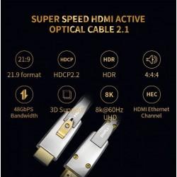 Câble HDMI fibre optique...